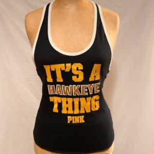 PINK VS Iowa Hawkeyes Tank top NWT